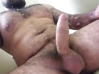 big cock Spacious with a difficulty brace intact spews a huge saddle with on a difficulty smoothness amateur