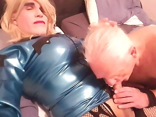 blowjob no.249 Suleika Latex be imparted to murder scrub big tranny cock sucked unconnected with older man big cock